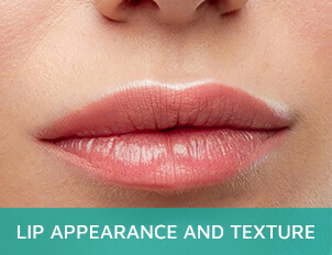 Lip appearance and texture